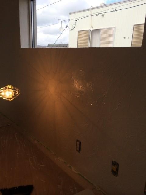 ヨガスタジオ塗り壁,漆喰