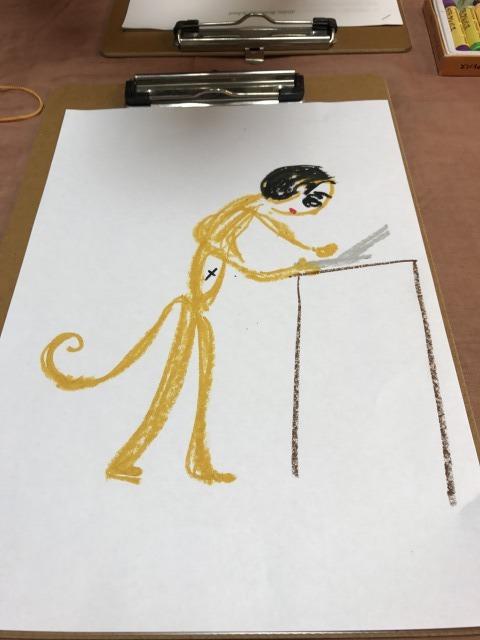 アートセラピーSATORUのお猿さんの絵と携帯